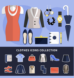 clothes icon collection vector image vector image