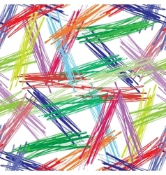 Colorful seamless background of colorful brushes vector image vector image