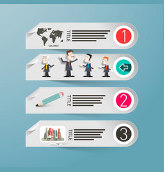 infographics paper infographic design with people vector image