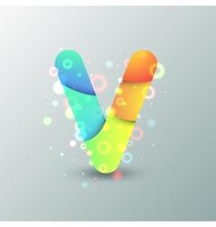 Modern Capital Letter V vector image