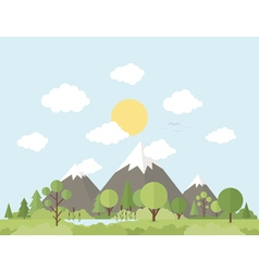 Mountain nature vector image vector image