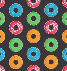 Seamless pattern with donuts vector image