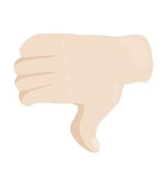 Thumbs down or dislike hand icon cartoon style vector image