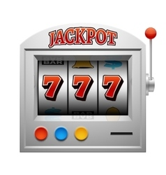Casino slot gambling machine lucky and win vector image vector image