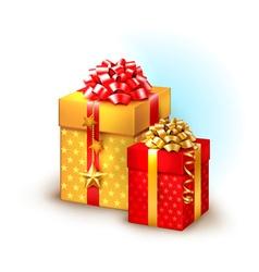 Christmas boxes vector image