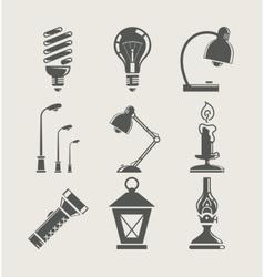 light bulb and lighting vector image