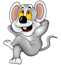 relaxing mouse vector image vector image