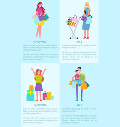 shopping and sale pictures vector image vector image