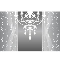 silver frame chandelier vector image vector image