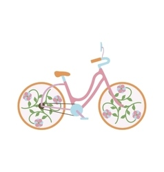Vintage old bike vector image