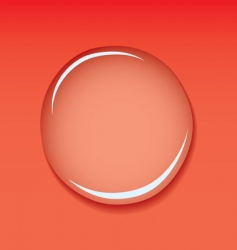 water droplet red vector image vector image