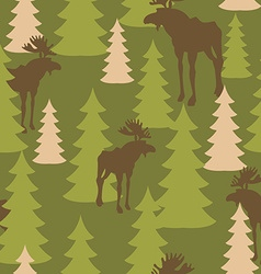 Army pattern of deer and forest Military vector image vector image