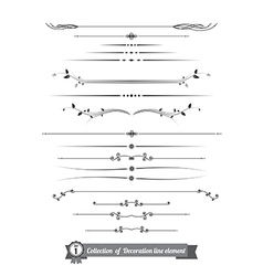 Collection of decorative line elements border and vector