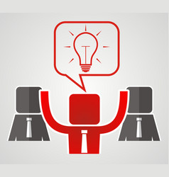 Concept of teamwork the idea to reach a vector