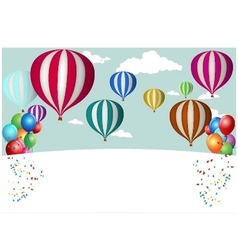 Hot air balloon celebration vector