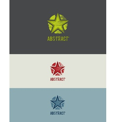 Grunge Star Design Element vector image