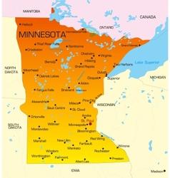 Minnesota vector image vector image