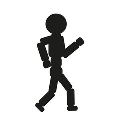 running man sign black icon vector image