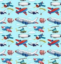 Seamless aircrafts vector image vector image