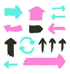 set of grunge arrows vector image vector image