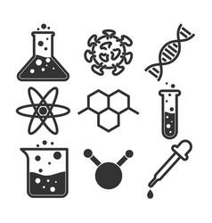 simple science icon set vector image