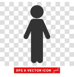 Standing Child Eps Icon vector image vector image