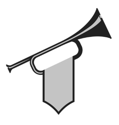 Trumpet with flag vector image