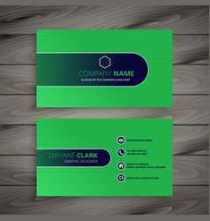Abstract green business card design vector