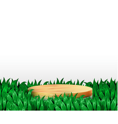 Abstract scene background cylinder wood podium on vector