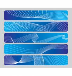 abstract wave panel vector image