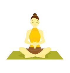 accomplished hand down prayer pose yoga meditation vector image