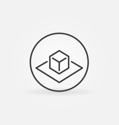 Ar circle concept linear icon vector