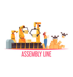 Assembly line coveyor composition vector