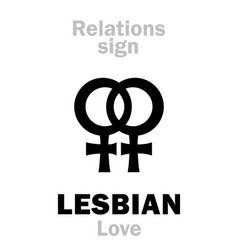 astrology lesbian love vector image