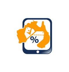 australian coupon shopping vector image