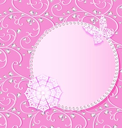 Background card with flower lace and delicate vector