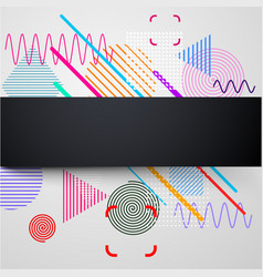 background with abstract colorful pattern vector image