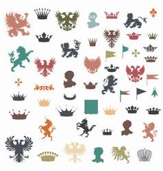 Big set heraldic shapes vector