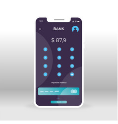 Blue and green login online banking ui ux gui vector