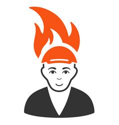 Burned man icon vector