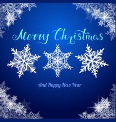Christmas three snowflakes vector
