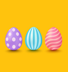 colorful eggs with patterns vector image