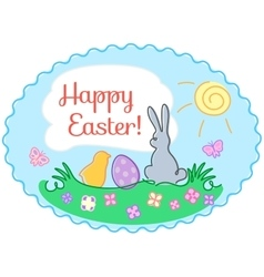 contour Easter greeting card vector image