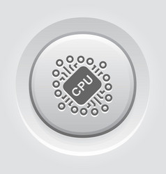 cryptocurrency cpu mining icon vector image