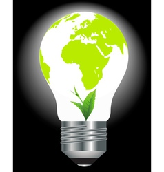 environmental light bulb vector image