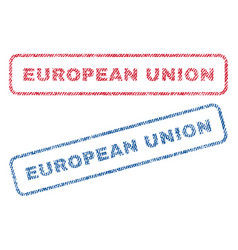 European union textile stamps vector