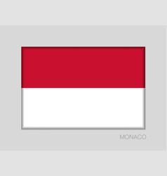 Flag of monaco national ensign aspect ratio 2 to vector
