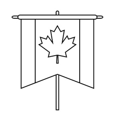 Flag pennant canadian outline vector