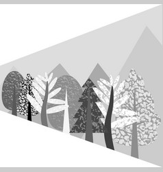 flat monochrome with the wood vector image