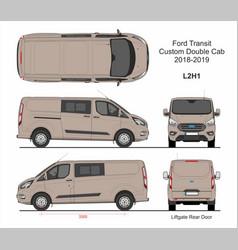 Ford transit custom delivery van l2h1 2018-2019 vector
